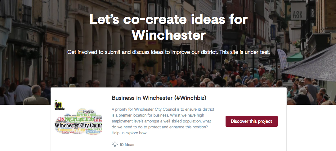 CitizenLab: NOT business as usual in Winchester